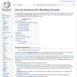 Liste des présidents de la République française