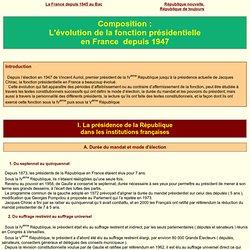 Les Présidents de la République en France depuis 1947