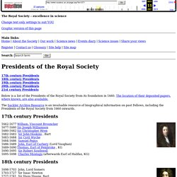 Presidents of the Royal Society