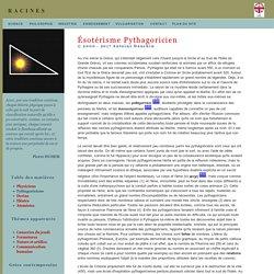 Philosophie présocratique: les pythagoriciens
