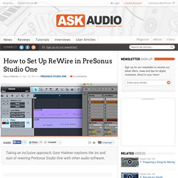 How to Set Up ReWire in PreSonus Studio One