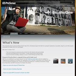 Studio One - What's New