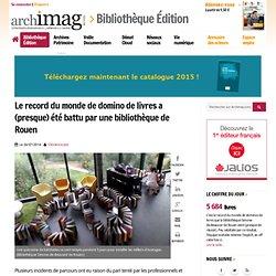 Le record du monde de domino de livres a (presque) été battu par une bibliothèque de Rouen