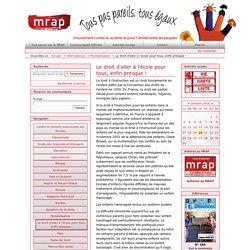 Le droit d'aller à l'école pour tous, enfin presque ! — MRAP - Mouvement contre le Racisme et pour l'Amitié entre les Peuples