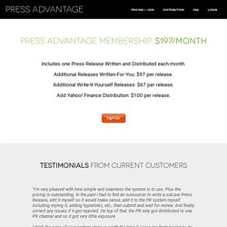 Press Advantage: Pricing