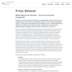 Press Release – AlgorithmWatch