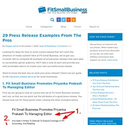 28 Press Release Examples From The Pros