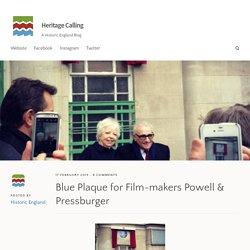 Blue Plaque for Film-makers Powell & Pressburger