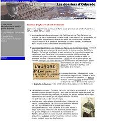Journaux dreyfusards et anti-dreyfusards - Ac. Poitiers