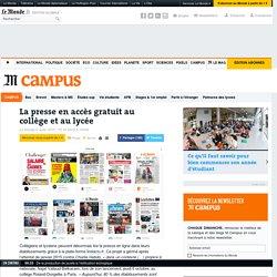 La presse en accès gratuit au collège et au lycée