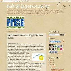 Le concours Eco-Reportages 2012 est lancé