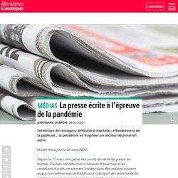 Alternatives Economiques : La presse écrite à l'épreuve de la pandémie
