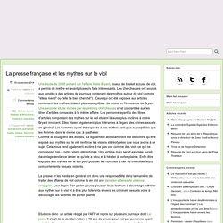La presse française et les mythes sur le viol