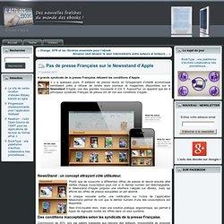 Pas de presse Française sur le Newsstand d'Apple