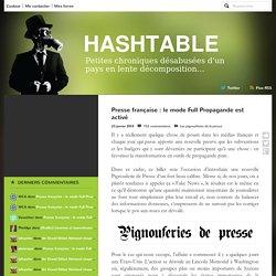 Presse française : le mode Full Propagande est activé