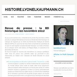 la BD historique (22 novembre 2011) — histoire.lyonelkaufmann.ch