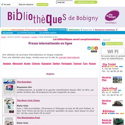 Presse internationale en ligne