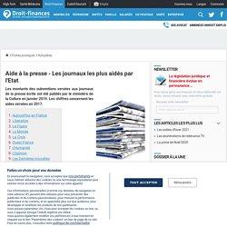Aide à la presse - Les journaux les plus aidés par l'Etat - Droit-Finances