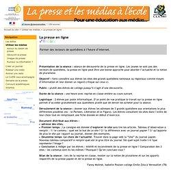 La presse en ligne - clemi.ac-versailles.fr