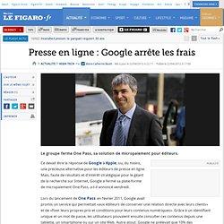 High-Tech : Presse en ligne: Google arrête les frais