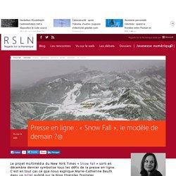 Presse en ligne : « Snow Fall », le modèle de demain ?