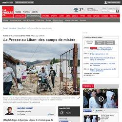 La Presse au Liban: des camps de misère