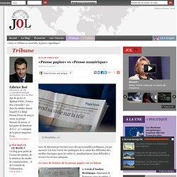 «Presse papier» vs «Presse numérique»