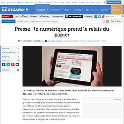 High-Tech : Presse: le numérique prend le relais du papier