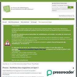 Press Reader l Guide d'utilisation