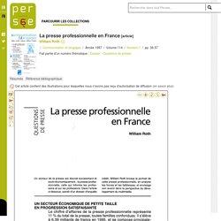 La presse professionnelle en France
