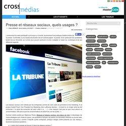 Presse et réseaux sociaux, quels usages?