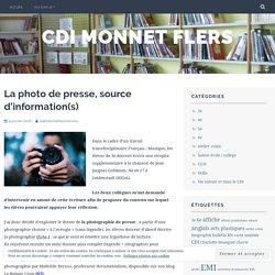 La photo de presse, source d'information(s) – cdi monnet flers