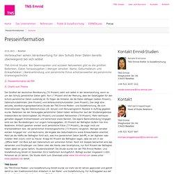 TNS Emnid - Medien- und Sozialforschung - Presseinformation: Verbraucher sehen Verantwortung für den Schutz ihrer Daten bereits überwiegend bei sich selbst