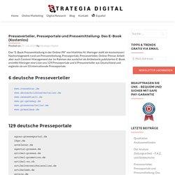 Presseportale, Presseverteiler und Pressemitteilung: E-Book