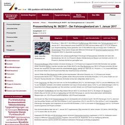 Kraftfahrt-Bundesamt - Presse / Öffentlichkeitsarbeit - Pressemitteilung Nr. 06/2017 - Der Fahrzeugbestand am 1. Januar 2017