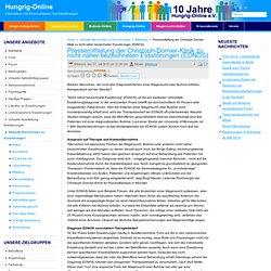 Pressemitteilung der Christoph-Dornier-Klinik zu nicht näher bezeichneten Essstörungen (EDNOS)