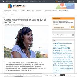 Pressenza - Andrea Novotny explica en España qué es la COPEHU