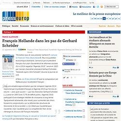 François Hollande dans les pas de Gerhard Schröder