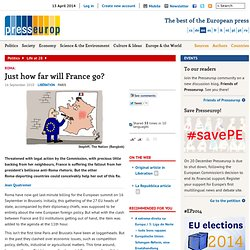 Just how far will France go? | Presseurop – English