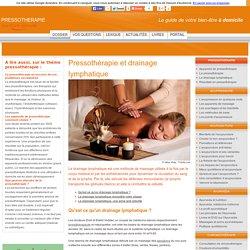 Pressothérapie et drainage lymphatique