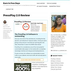 PressPlay 2.0 Review - Is The New Software Worth It?