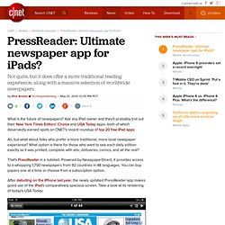 PressReader: Ultimate newspaper app for iPads? | iPad Atlas - CN