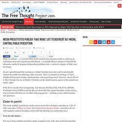 Media Presstitutes Publish 'Fake News' List To Discredit Alt-Media, Control Public Perception