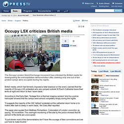 Occupy LSX criticizes British media