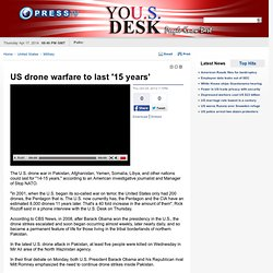 US drone warfare to last '15 years'