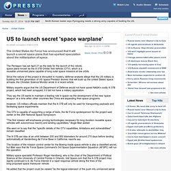 US to launch secret 'space warplane' - (Build 20100401064631)