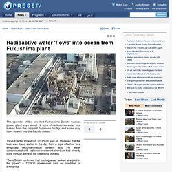 Radioactive water 'flows' into ocean from Fukushima plant