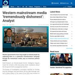 Western media 'tremendously dishonest'