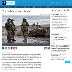 PressTV-US green light for war in Ukraine