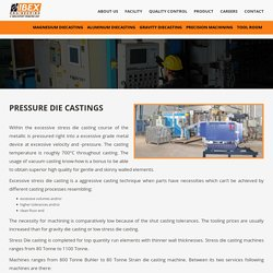 Pressure Die Castings - Ibex Engineering